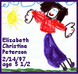 Elizabeth Christine Peterson - self portrait age 5 1/2