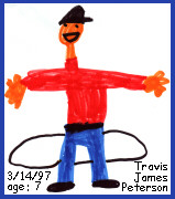 Travis James Peterson, self portrait, age 7